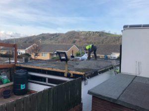 EPDM roof in progress