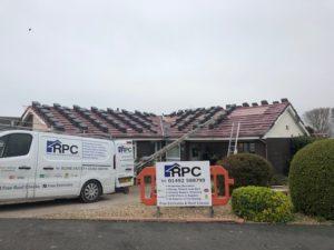 new tiled roof in progress